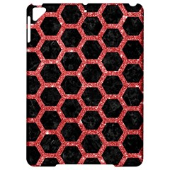 Hexagon2 Black Marble & Red Glitter (r) Apple Ipad Pro 9 7   Hardshell Case by trendistuff