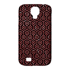 Hexagon1 Black Marble & Red Glitter (r) Samsung Galaxy S4 Classic Hardshell Case (pc+silicone) by trendistuff