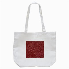 Hexagon1 Black Marble & Red Glitter Tote Bag (white) by trendistuff