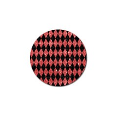 Diamond1 Black Marble & Red Glitter Golf Ball Marker (10 Pack) by trendistuff