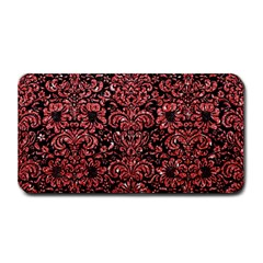 Damask2 Black Marble & Red Glitter (r) Medium Bar Mats by trendistuff