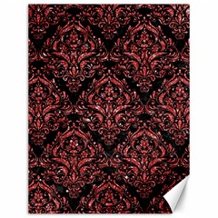 Damask1 Black Marble & Red Glitter (r) Canvas 12  X 16   by trendistuff