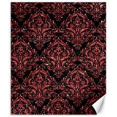 Damask1 Black Marble & Red Glitter (r) Canvas 20  X 24   by trendistuff