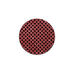 Circles3 Black Marble & Red Glitter (r) Golf Ball Marker by trendistuff