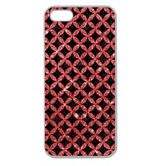 Circles3 Black Marble & Red Glitter (r) Apple Seamless Iphone 5 Case (clear) by trendistuff