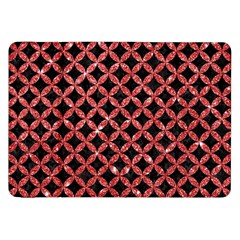 Circles3 Black Marble & Red Glitter (r) Samsung Galaxy Tab 8 9  P7300 Flip Case by trendistuff