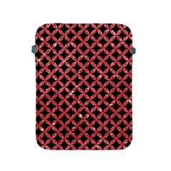 Circles3 Black Marble & Red Glitter (r) Apple Ipad 2/3/4 Protective Soft Cases by trendistuff