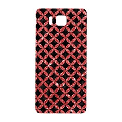 Circles3 Black Marble & Red Glitter (r) Samsung Galaxy Alpha Hardshell Back Case by trendistuff