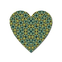 Arabesque Seamless Pattern Heart Magnet by dflcprints