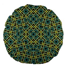 Arabesque Seamless Pattern Large 18  Premium Flano Round Cushions by dflcprints