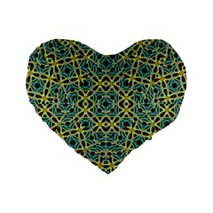 Arabesque Seamless Pattern Standard 16  Premium Flano Heart Shape Cushions by dflcprints