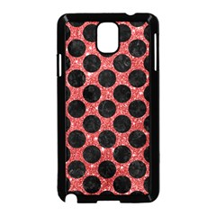 Circles2 Black Marble & Red Glitter Samsung Galaxy Note 3 Neo Hardshell Case (black) by trendistuff