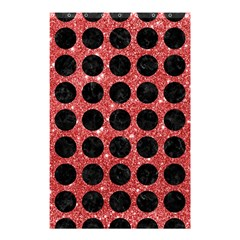 Circles1 Black Marble & Red Glitter Shower Curtain 48  X 72  (small)  by trendistuff