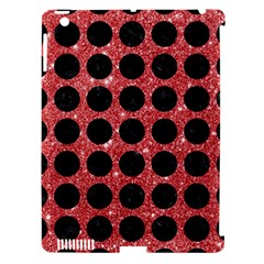 Circles1 Black Marble & Red Glitter Apple Ipad 3/4 Hardshell Case (compatible With Smart Cover) by trendistuff