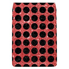 Circles1 Black Marble & Red Glitter Flap Covers (l)  by trendistuff