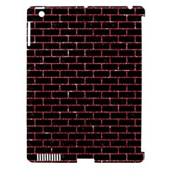 Brick1 Black Marble & Red Glitter (r) Apple Ipad 3/4 Hardshell Case (compatible With Smart Cover) by trendistuff