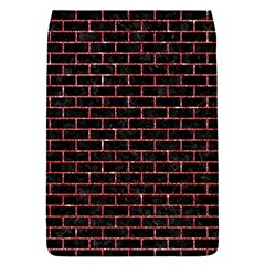 Brick1 Black Marble & Red Glitter (r) Flap Covers (s)  by trendistuff