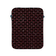 Brick1 Black Marble & Red Glitter (r) Apple Ipad 2/3/4 Protective Soft Cases by trendistuff