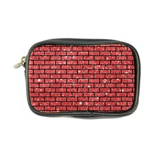 Brick1 Black Marble & Red Glitter Coin Purse by trendistuff