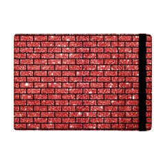 Brick1 Black Marble & Red Glitter Apple Ipad Mini Flip Case