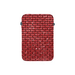 Brick1 Black Marble & Red Glitter Apple Ipad Mini Protective Soft Cases by trendistuff