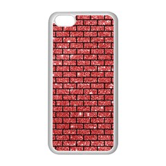 Brick1 Black Marble & Red Glitter Apple Iphone 5c Seamless Case (white) by trendistuff
