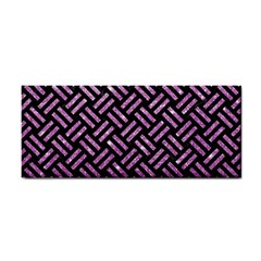 Woven2 Black Marble & Purple Glitter (r) Cosmetic Storage Cases by trendistuff