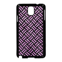 Woven2 Black Marble & Purple Glitter (r) Samsung Galaxy Note 3 Neo Hardshell Case (black) by trendistuff