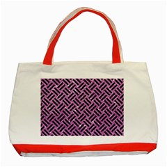 Woven2 Black Marble & Purple Glitter Classic Tote Bag (red) by trendistuff