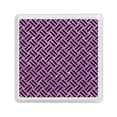 Woven2 Black Marble & Purple Glitter Memory Card Reader (square)  by trendistuff