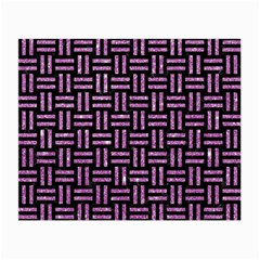 Woven1 Black Marble & Purple Glitter (r) Small Glasses Cloth