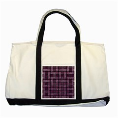 Woven1 Black Marble & Purple Glitter (r) Two Tone Tote Bag by trendistuff
