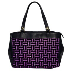 Woven1 Black Marble & Purple Glitter (r) Office Handbags by trendistuff