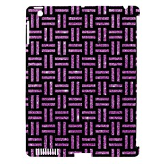 Woven1 Black Marble & Purple Glitter (r) Apple Ipad 3/4 Hardshell Case (compatible With Smart Cover) by trendistuff