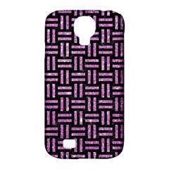 Woven1 Black Marble & Purple Glitter (r) Samsung Galaxy S4 Classic Hardshell Case (pc+silicone) by trendistuff
