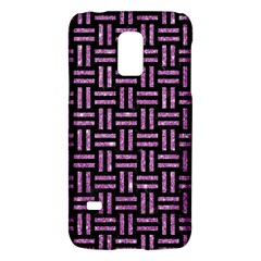 Woven1 Black Marble & Purple Glitter (r) Galaxy S5 Mini by trendistuff