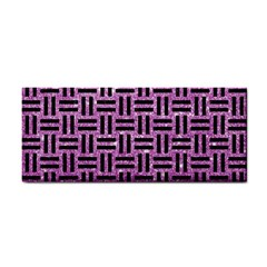 Woven1 Black Marble & Purple Glitter Cosmetic Storage Cases by trendistuff