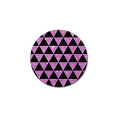 Triangle3 Black Marble & Purple Glitter Golf Ball Marker (4 Pack)