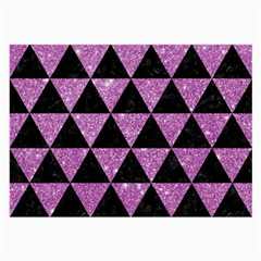 Triangle3 Black Marble & Purple Glitter Large Glasses Cloth by trendistuff