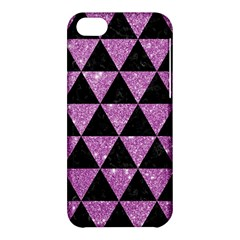 Triangle3 Black Marble & Purple Glitter Apple Iphone 5c Hardshell Case by trendistuff