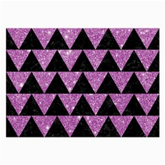 Triangle2 Black Marble & Purple Glitter Large Glasses Cloth by trendistuff