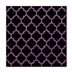 Tile1 Black Marble & Purple Glitter (r) Face Towel by trendistuff