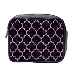 Tile1 Black Marble & Purple Glitter (r) Mini Toiletries Bag 2 Side by trendistuff