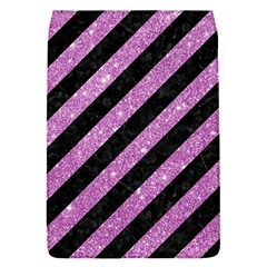 Stripes3 Black Marble & Purple Glitter (r) Flap Covers (s)  by trendistuff