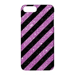 Stripes3 Black Marble & Purple Glitter (r) Apple Iphone 8 Plus Hardshell Case by trendistuff