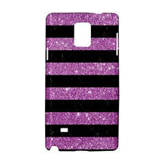 Stripes2black Marble & Purple Glitter Samsung Galaxy Note 4 Hardshell Case by trendistuff
