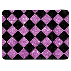 Square2 Black Marble & Purple Glitter Samsung Galaxy Tab 7  P1000 Flip Case by trendistuff