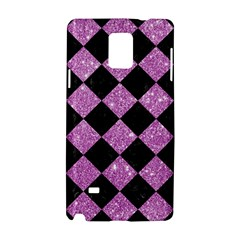 Square2 Black Marble & Purple Glitter Samsung Galaxy Note 4 Hardshell Case