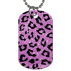 Skin5 Black Marble & Purple Glitter (r) Dog Tag (two Sides) by trendistuff