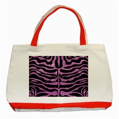 Skin2 Black Marble & Purple Glitter (r) Classic Tote Bag (red) by trendistuff
